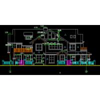 某三层公馆式别墅建筑方案图