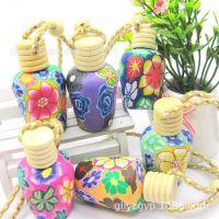 中秋节热卖 软陶汽车香水挂件15ml 创意小商品 艳丽花色百种款式