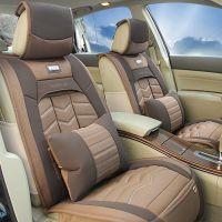 奥迪A6A4宝马X5X6帕萨特全包汽车坐垫新款四季垫通用座套亚麻皮革