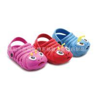 儿童凉拖鞋 防滑软底  卡通毛毛虫小孩夏季沙滩鞋 儿童洞洞鞋