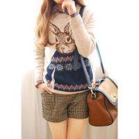 秋冬新款学院风加厚毛衣外套女韩版宽松套头针织衫打底衫长袖女装