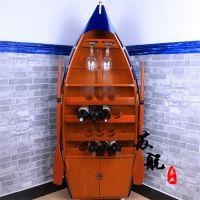 酒柜装饰船 沙滩道具景观船 船型景观装饰品 欧式风格木船摆件