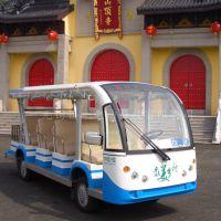 安徽11座电动观光车,生态园代步电瓶车,房地产看房接送车