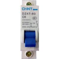 供应正泰断路器,小型断路器,空气开关DZ47-60 1P C6批发零售