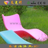 加厚 滚塑工艺沙滩躺椅 户外海边休闲躺椅 简约加固发光休闲椅