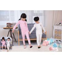 韩国MI PINK秋冬新款专柜正品批发儿童莱卡内衣系列童家居服套装