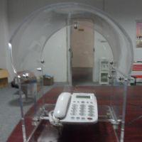 工厂特制压克力透明弧形防尘罩户外公共设施电话隔音罩一个起售