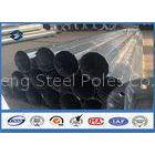 Flange mode octagonal street light pole , Min Zinc Coating 86 microns galvanized steel post