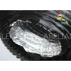 Black 6 Inch Round Flexible Duct Lightweight PVC With Aluminum Foil