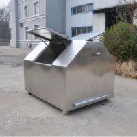 辽宁鞍山东安DALJ304-001大型户外不锈钢304移动式环卫垃圾箱收集垃圾箱氩弧焊接工艺