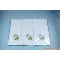 供应新款全棉男式手帕,儿童手帕,女士全棉绣花手帕