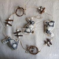 Re Zakka 杂货 帆布兔子铃铛挂饰 装饰挂件
