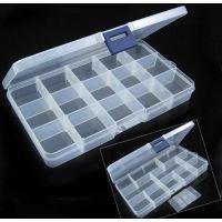 代理15格塑料盒 可拆分透明塑料储物盒 收纳盒 药盒 举报
