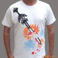 全棉印花T恤 四色网点印花胶印烫画热转印数码印刷
