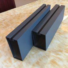 供应内蒙古U型方通吊顶厂家木纹铝方管型材铝方通铝圆管型材 厂价直销 规格齐全