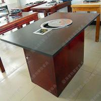 出售 美式工业风餐桌椅 火锅城电磁炉火锅台 实木火锅桌椅定做