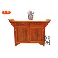 花梨木二联柜红木家具实木新古典玄关柜中式仿古门厅储物柜子供桌
