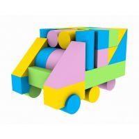 厂家定制 多色环保儿童EVA益智拼装玩具 方块随意组装玩具