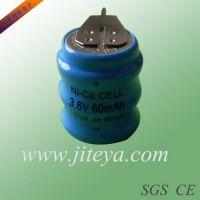 NI-MH 3.6V 60MAH镍氢扣式充电电池