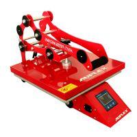 红色经典D1 38*38cm高压烫画机 服装T恤印花设备 数码热转印机器