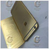 GOLDVIEW旗下深圳五金电镀厂 苹果手机壳电镀8微米黄金加工