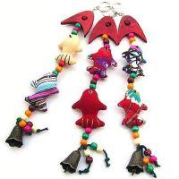 【热】家居包上汽车装饰品时尚用品布艺风铃挂件 民族风挂饰L0297