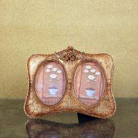欧式田园玫瑰树脂相框 婚庆创意礼品 浮雕工艺品摆件 家居装饰品