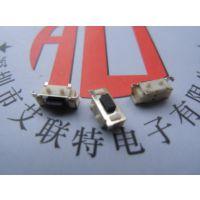 TS-017按键开关3*6*4.3H大侧按柄高度可以订做-带定位柱
