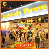 品牌男女装门店吊挂圆形气球陈列道具 玻璃钢不漏气多彩圆形气球