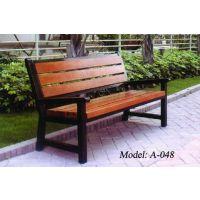 广州户外休闲椅,公园钢木休闲椅,庭院现货休闲椅