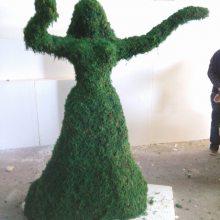 成都草皮雕塑玻璃钢仿真草皮抽象人物雕塑树脂草皮抽象雕塑厂家