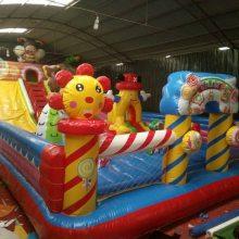 充气滑梯现货 心悦糖果乐园充气滑梯 12X6米儿童城堡pvc玩具气垫床