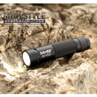 博客迷你铝合金便携户外登山强光远射5号电池CREE LED手电筒P020