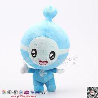 东莞毛绒玩具工厂 专业定做 蓝色卡通企业网站吉祥物礼品 OEM