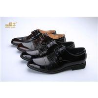 犀牛新款商务正装真皮皮鞋 专柜在售皮革拼接低帮绅士系带男鞋