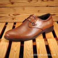 夏季新款男鞋真皮潮流休闲鞋单鞋子 男士软底透气洞洞鞋 厂家直销