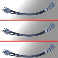 互绞引线 柱上变柔性电缆终端 柱上变互绞电缆高压用 有无肘形头上端 下端