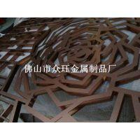铝艺屏风高档别墅装饰铝板雕刻镂空花格红古铜屏风