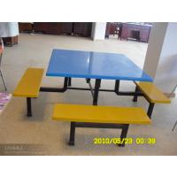 八人位正方形饭堂餐桌椅 8人座餐桌椅组合玻璃钢餐桌食堂用餐桌椅厂家直销