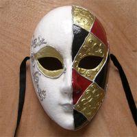 威尼斯风格纸浆面具节日装扮舞会面具手工制作派对道具