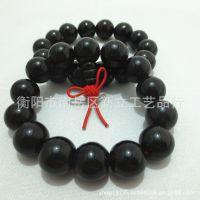 低价批发供应优质黑玛瑙佛珠手链 径珠约14mm 带葫芦头
