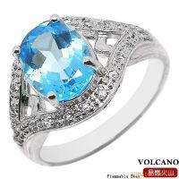 供应天然蓝黄玉戒指 纯银镶嵌宝石首饰