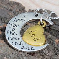 月亮代表我的心 情侣吊坠 项链 韩版韩国 饰品批发 混批银饰 项饰