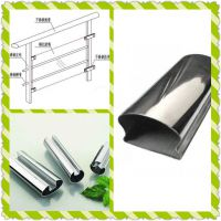 不锈钢面包管,不锈钢扶手管,不锈钢拱形管,不锈钢凹槽扶手管,佛山不锈钢扶手管系列