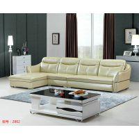 供应盈冠家具头层皮大户型简约现代皮沙发客厅家具皮艺沙发组合