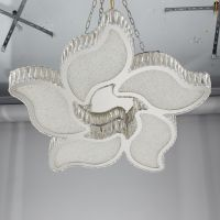 现代简约不锈钢吸顶灯 led水晶客厅灯 卧室餐厅吸顶灯卡骐灯饰照明