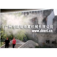 户外景区喷雾降温系统,夏季喷雾降温系统,喷雾造景造雾系统,高压喷雾造景装置