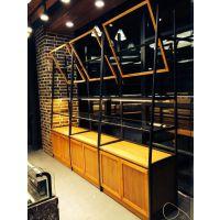 供应浙江杭州惠利展柜HL1109实木铁艺喷塑组装面包中岛面包展示柜