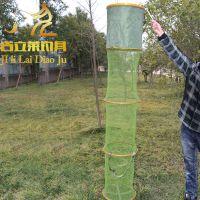 渔具用品批发 吉立莱35cm 1.9米防挂 涂胶鱼护鱼网 万向调节鱼网