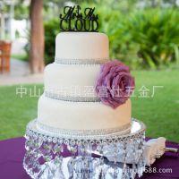 亚克力有机玻璃单层透明蛋糕架圆形糕点下午茶蛋糕展示婚庆装饰